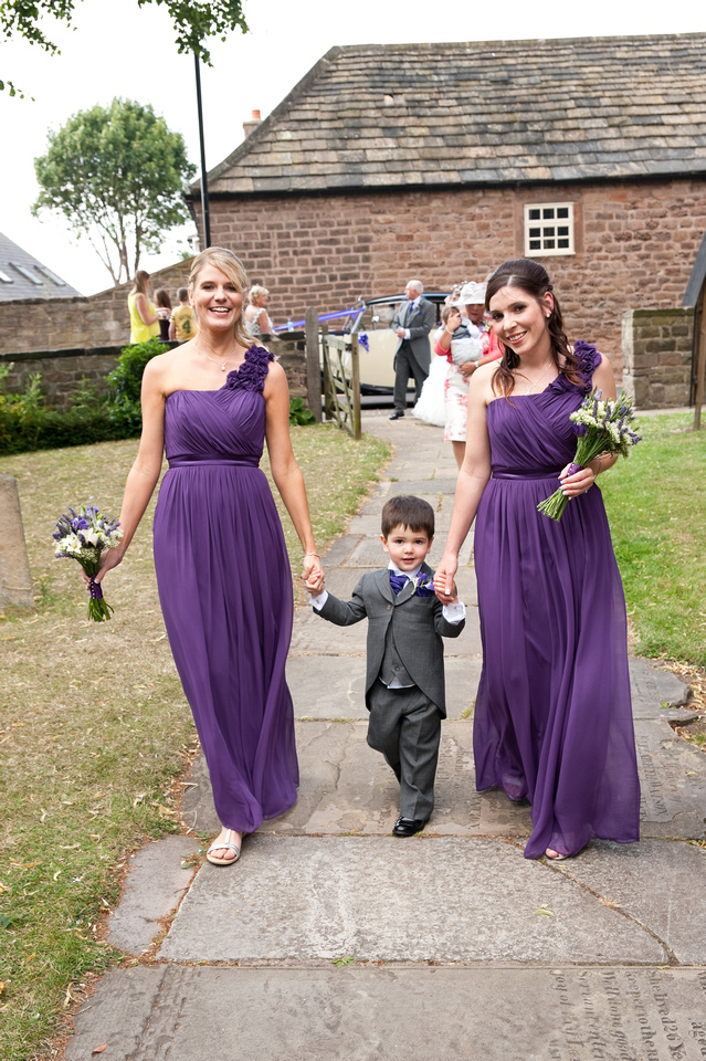 wedding photograph at church in south yorkshire