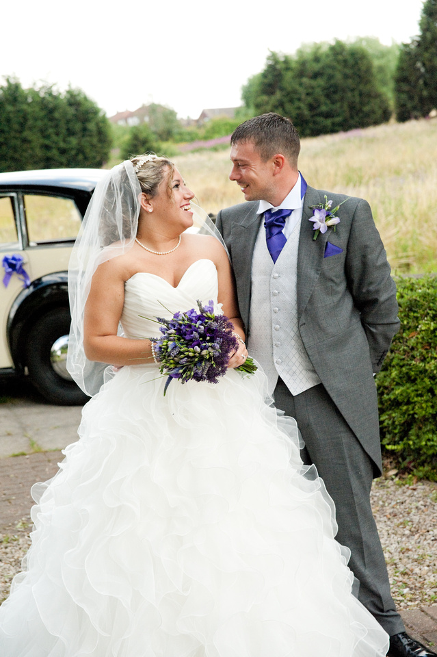 picture of bride and groom at hellaby hall hotel