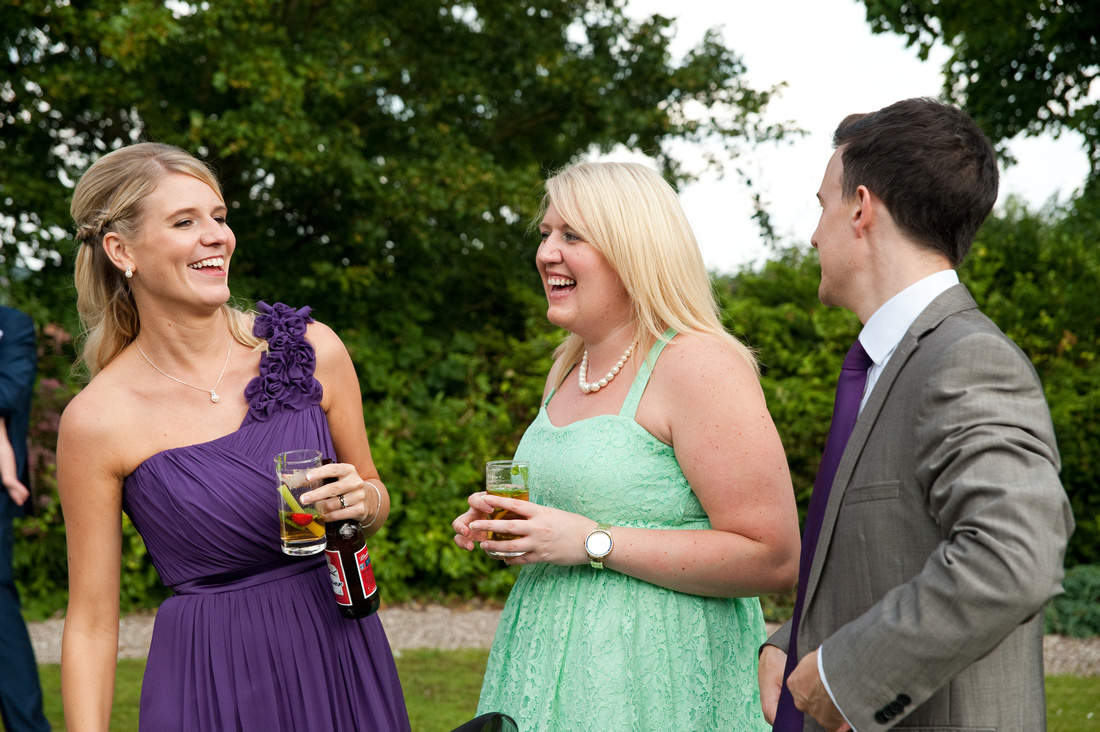 wedding image of guests having fun