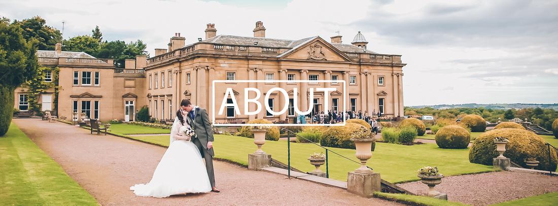 wortley hall wedding photography of bride and groom kissing