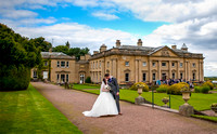 Sheffield wedding photographer picture of bride and groom at Wortley Hall