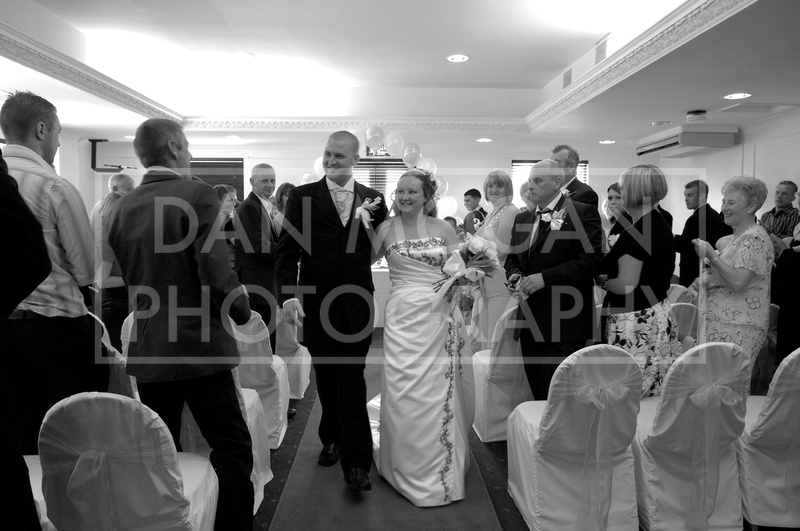 Wedding photograph of bride and groom at Aston Hall near Rotherham