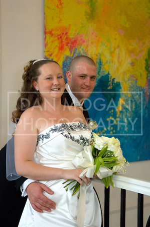Bride and groom at Aston Hall Hotel in Rotherham