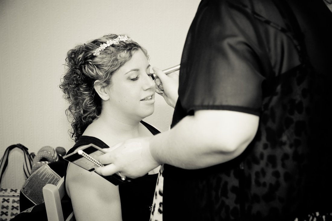 photograph of wedding makeup in rotherham