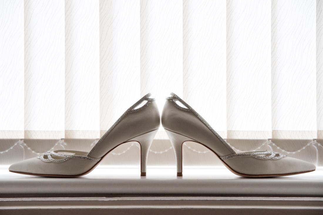 wedding shoes photograph rotherham