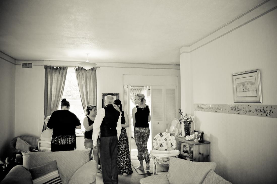 photograph of bridal preparations
