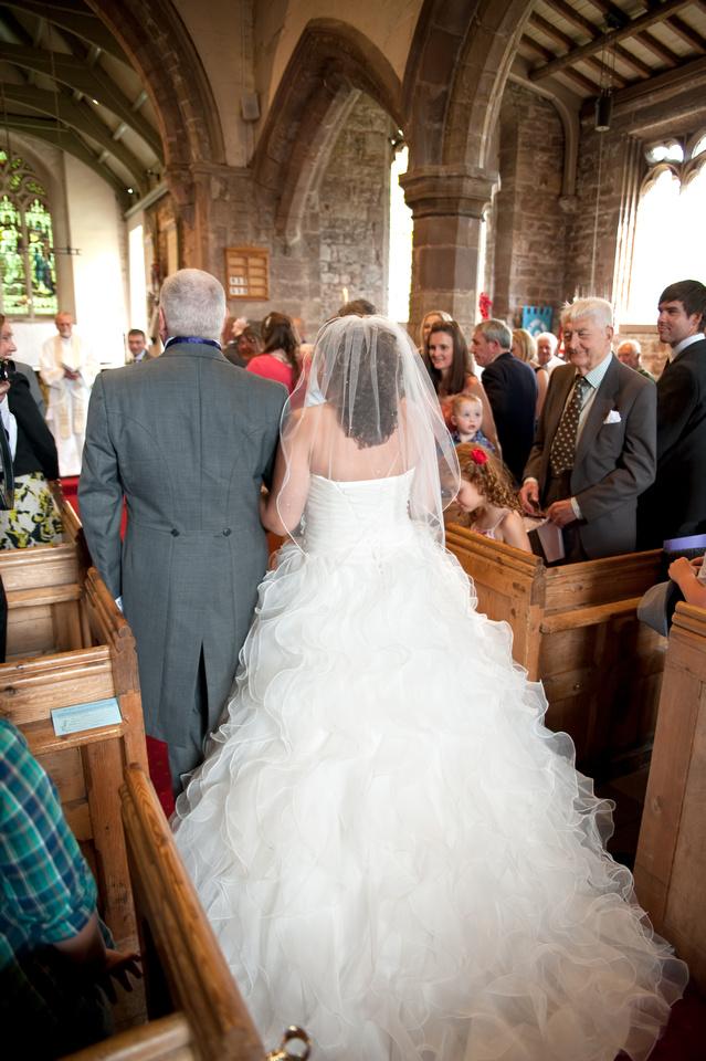 walking down the aisle wedding photo