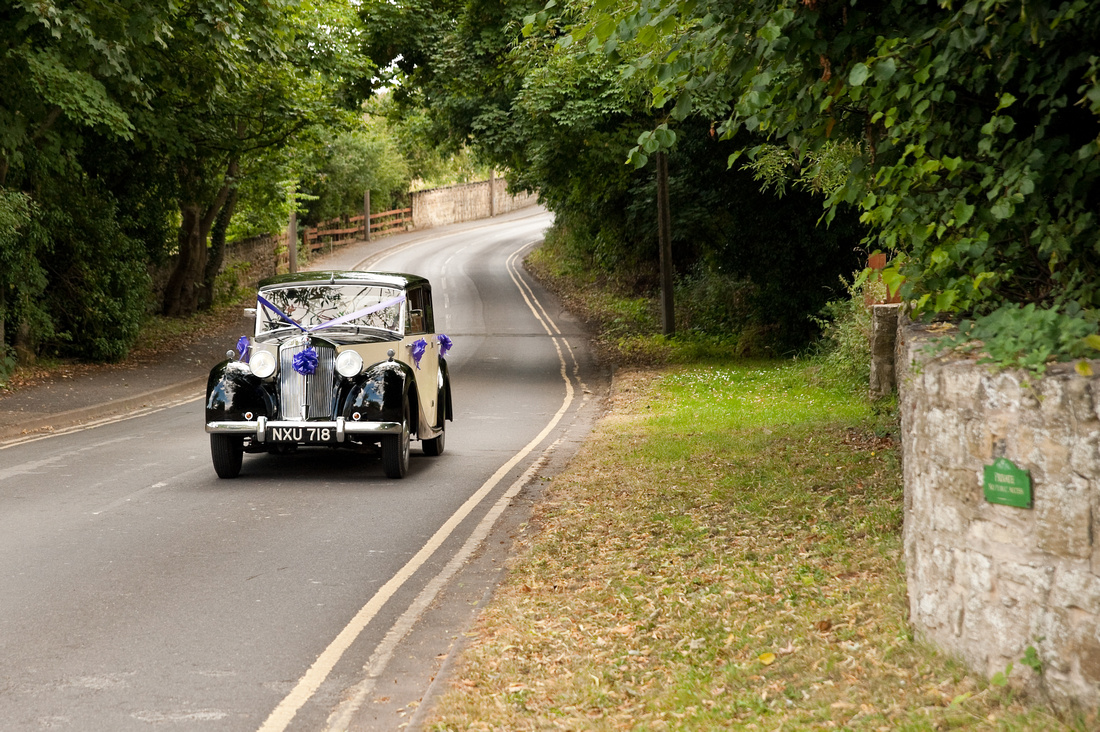 wedding car photo at hellaby hall in rotherham