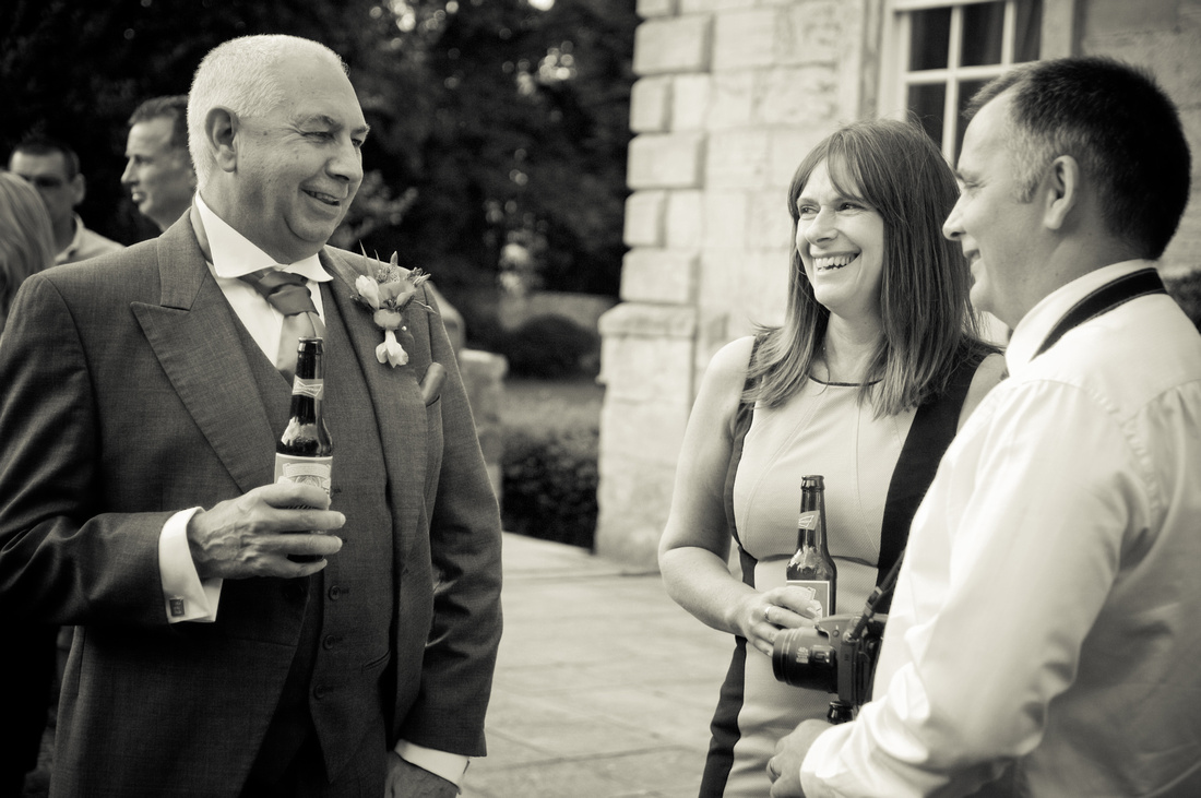 black and white wedding photo in rotherham
