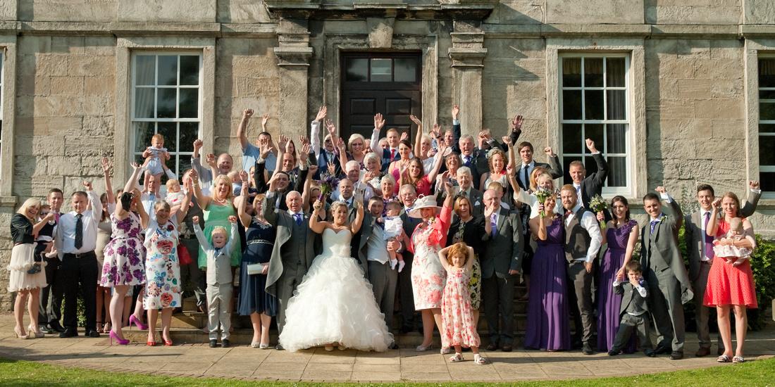Hellaby Hall wedding photographer group