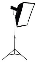 Photo studio lighting equipment isolated on white